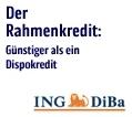 Weniger Zinsen und Geld zurück beim ING-DiBa Rahmenkredit